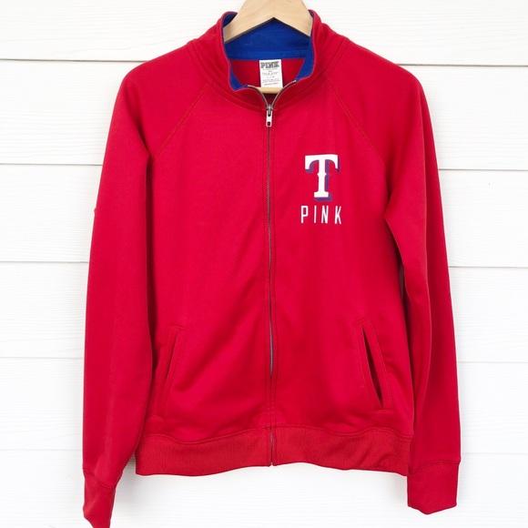 PINK Victoria's Secret Jackets & Blazers - Victoria's Secret Pink Texas Rangers Zip Up Jacket